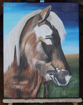 Acrylgemälde Pferde Isländer malen