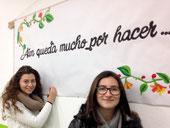 Marina Blázquez y Alba Guirao se encargaron del lema.