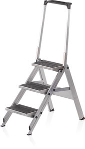 75-307 3-rung Safety Step Ladder with step plastic coating