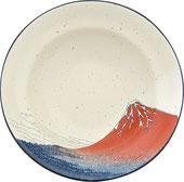 富嶽三十六景7.5段付盛鉢 上面図