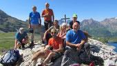 Foto di gruppo al lago Vannino