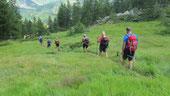 Foto di gruppo all'Alpe Prasca