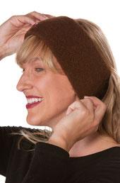 Alpaka Stirnband braun
