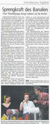 Schwäbisches Tagblatt 22.07.2002