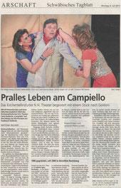 Schwäbisches Tagblatt 8.7.2013