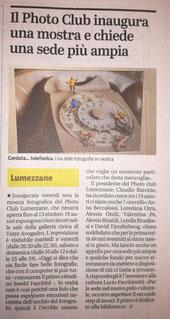 Giornale di Brescia ottobre 2019