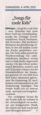 Göttinger Tageblatt vom 04.04.2015