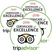 Tripadvisor Certifiate of Excellence