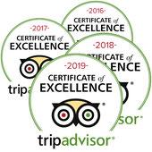 Tripadvisor Certifiate of Excellence
