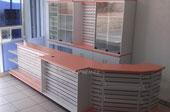 Mostrador mueble de caja mueble tipo oxxo