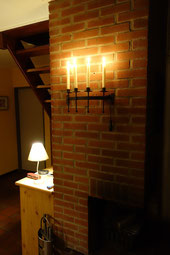 Abends bei Kerzenschein