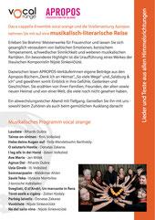 Konzertprogramm Rückseite