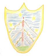Das Zehlendorfer Wappen, gemalt von Heidi B., 2013