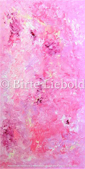 """Pink symphony - Liebeslied"" - 40 x 80 cm -"