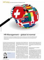 HR-Management - global ist normal