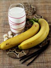 kefir de lait à la banane