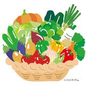 野菜のイラストはコチラヘ