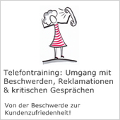 Claudia Karrasch, Seminar, Training und Beratung, Bonn, Telefontraining: Beschwerdemanagement