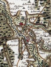 Argenton-sur-Creuse et Saint-Marcel (Indre) carte de Cassini