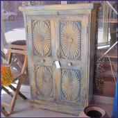 Indiase kast, oosterse meubels, Rajasthan kast, Yugaray, houtsnijwerk