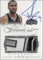 TONY PARKER / Auto Patch - No. 25  (#d 25/25)