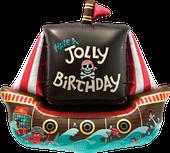 Luftballon Ballon Heliumballon Folienballon Ballongeschenk Ballongruß Geburtstag Kindergeburtstag Deko Dekoration Piratenschiff Piraten Seeräuber Schiff