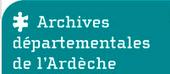 Logo des archives départementales de l'Ardèche