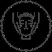 Symbol Gesichts-Massage