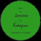 Letrero de servicios ecológicos