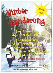Winterwanderung Plakat