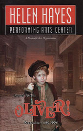 oliver logo helen hayes performing arts center pac 2001 december playbill