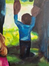 Kulturelles Kapital, Kleinkind an der Hand der Eltern