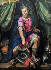 Portait d'Henri IV en Mars par Ambroise Dubois - Musée national du Château de Pau.