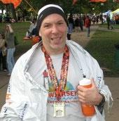 After running the Hartford Marathon, October 2011