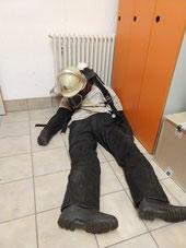 Übungspuppe mit 75 Kg Körpergewicht zur Darstellung eines Verunfallten Atemschutzgeräteträgers