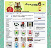 Screenshot der Homepage des Japanshop24