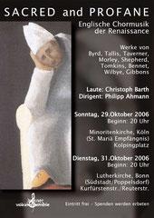 Konzertplakat Sacred and Profane