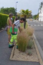 Visite des espaces verts par le Jury inter-communautaire à Nevez.