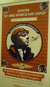 affiche de l'exposition Saint-Exupéry à Toulouse