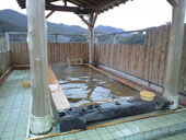 天然硫黄泉の露天風呂