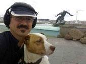 Con Pipo en el Orzán.