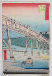 広重,橋,浮世絵