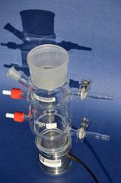 Hier zusammengeflanscht mit dem glass laborathory reactor 02 zur neuen Liefereinheit E/805/T/02