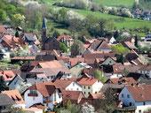 Straßbessenbach; Blick auf die alte Kirche