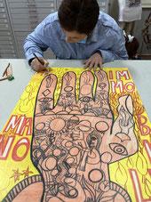 Manuela Sagona in atelier