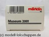 Märklin H0 48001 Museumswagen 2001 Flachwagen mit Bremserhaus und Schuler Presse