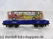 Märklin 48707 / Niederbordwagen Rlmms Sondermodell: 1.FC Märklin Jahreswagen 2007