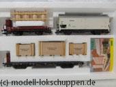 """Trix 24030 Güterwagen Set """"Seehafen"""" 3 Waggons """"Tor zur Welt"""""""