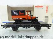 Märklin 46841 Flachwagen der DRG mit BERU SAG-LKW aus Guß