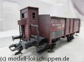 Märklin 46039 offener Güterwagen der K.W.St.E. mit Schotter und Bremserhaus, Ep. I